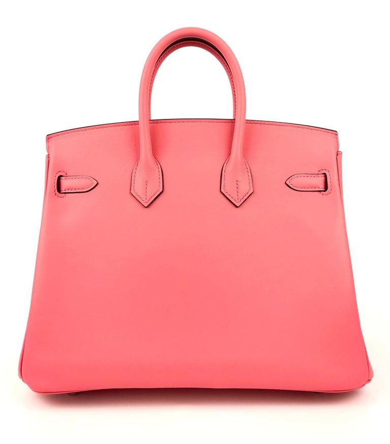 Hermes Birkin 25 Rose D'ete Pink Palladium Hardware 2020 In New Condition In Miami, FL
