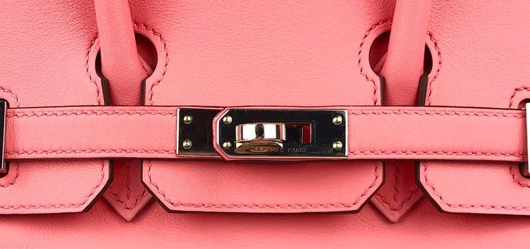Women's or Men's Hermes Birkin 25 Rose D'ete Pink Palladium Hardware 2020