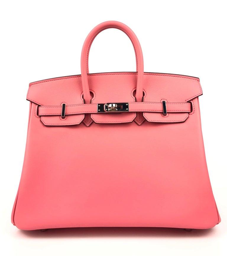 Hermes Birkin 25 Rose D'ete Pink Palladium Hardware 2020 4