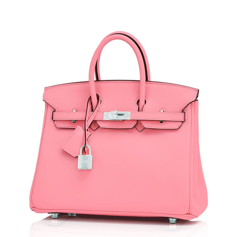 Hermes Birkin 25 Rose Eté Swift Palladium Hardware Baby D'Eté Y Stamp, 2020 In New Condition For Sale In New York, NY