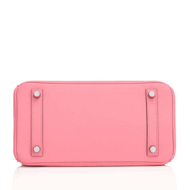 Hermes Birkin 25 Rose Eté Swift Palladium Hardware Baby D'Eté Y Stamp, 2020 For Sale 2