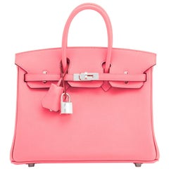 Hermes Birkin 25 Rose Eté Swift Palladium Hardware Baby D'Eté Y Stamp, 2020