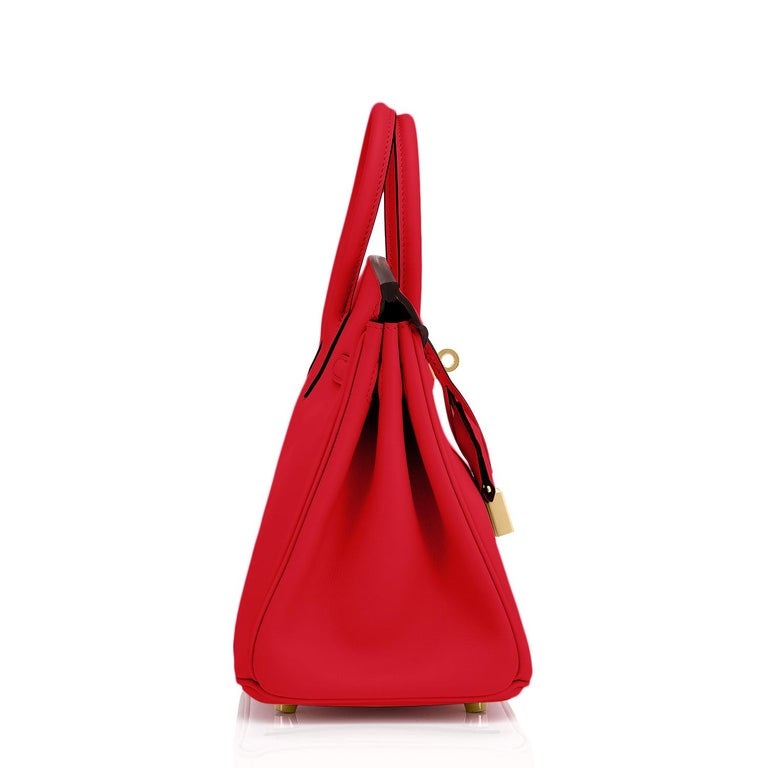 Hermes Birkin 25 Rouge de Coeur Lipstick Red Bag Gold Jewel Y Stamp, 2020 For Sale 1