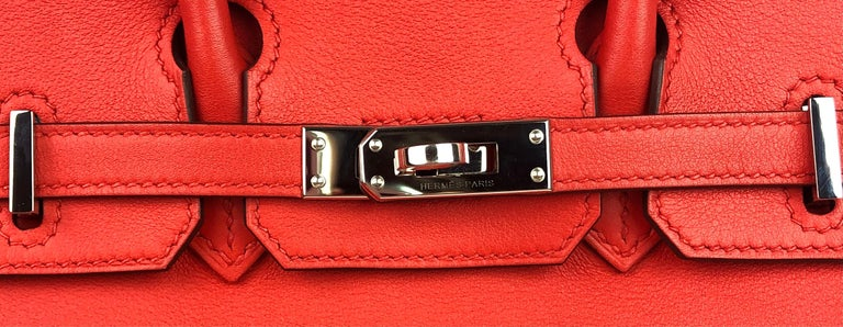 Hermes Birkin 25 Rouge Tomate Red Palladium Hardware 1
