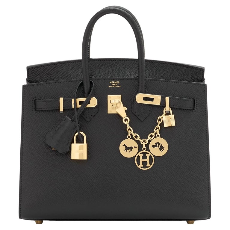 Hermes Birkin 25 Sellier Black Veau Madame Gold Hardware Y Stamp, 2020 RARE For Sale