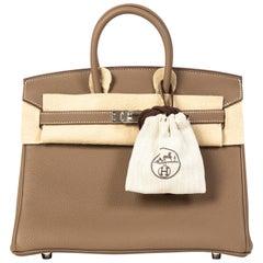 Hermès Birkin 25 Togo Etoupe PHW