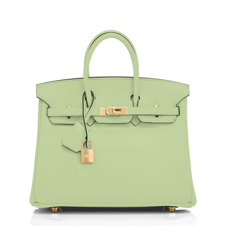 Hermes Birkin 25 Vert Criquet Chic Green Bag Gold Hardware Y Stamp, 2020 In New Condition For Sale In New York, NY