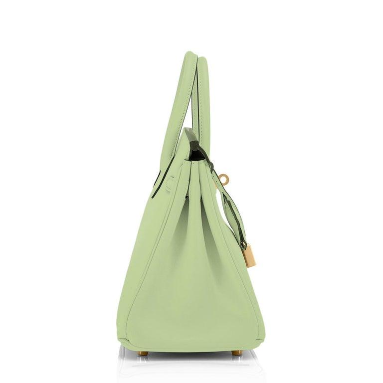 Hermes Birkin 25 Vert Criquet Chic Green Bag Gold Hardware Y Stamp, 2020 For Sale 1