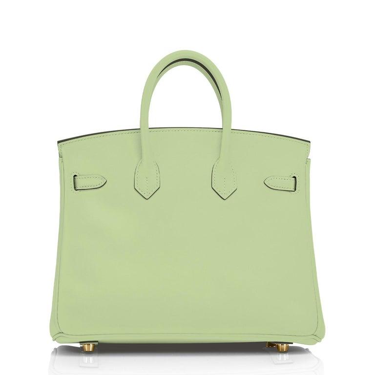 Hermes Birkin 25 Vert Criquet Chic Green Bag Gold Hardware Y Stamp, 2020 For Sale 3