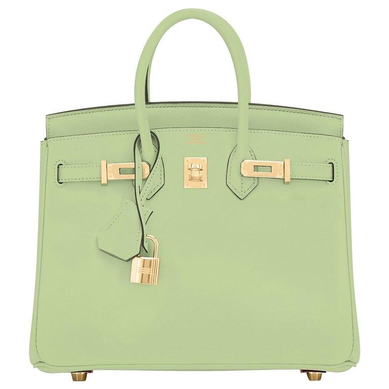 Hermes Birkin 25 Vert Criquet Chic Green Bag Gold Hardware Y Stamp, 2020 For Sale