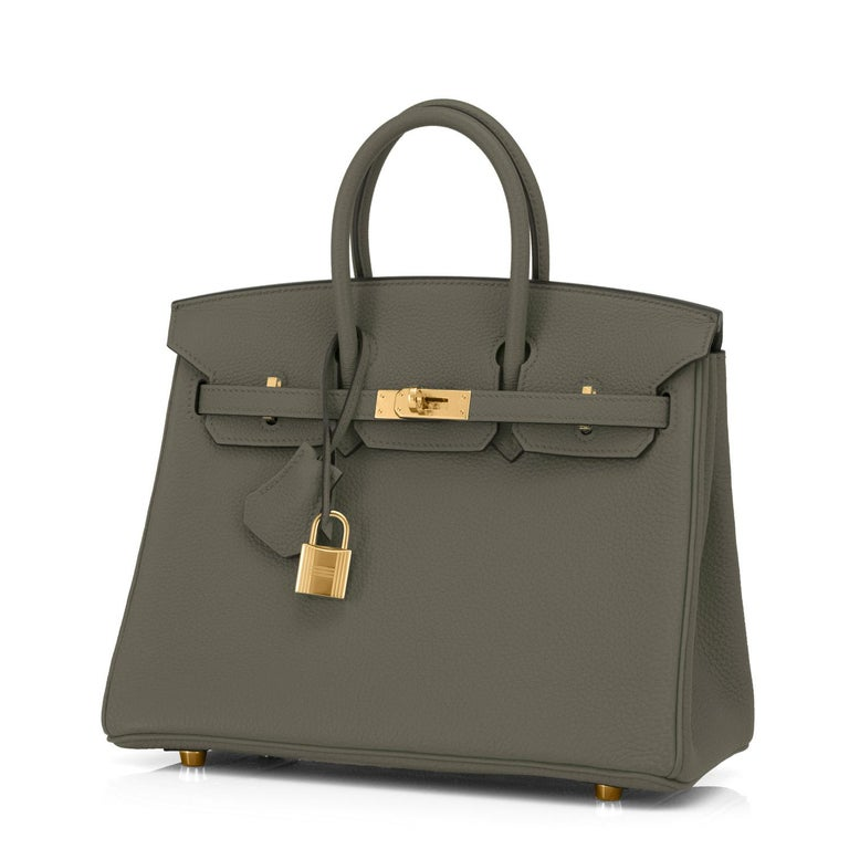 Hermes Birkin 25 Vert Maquis Military Green Togo Gold Bag Y Stamp, 2020  In New Condition For Sale In New York, NY