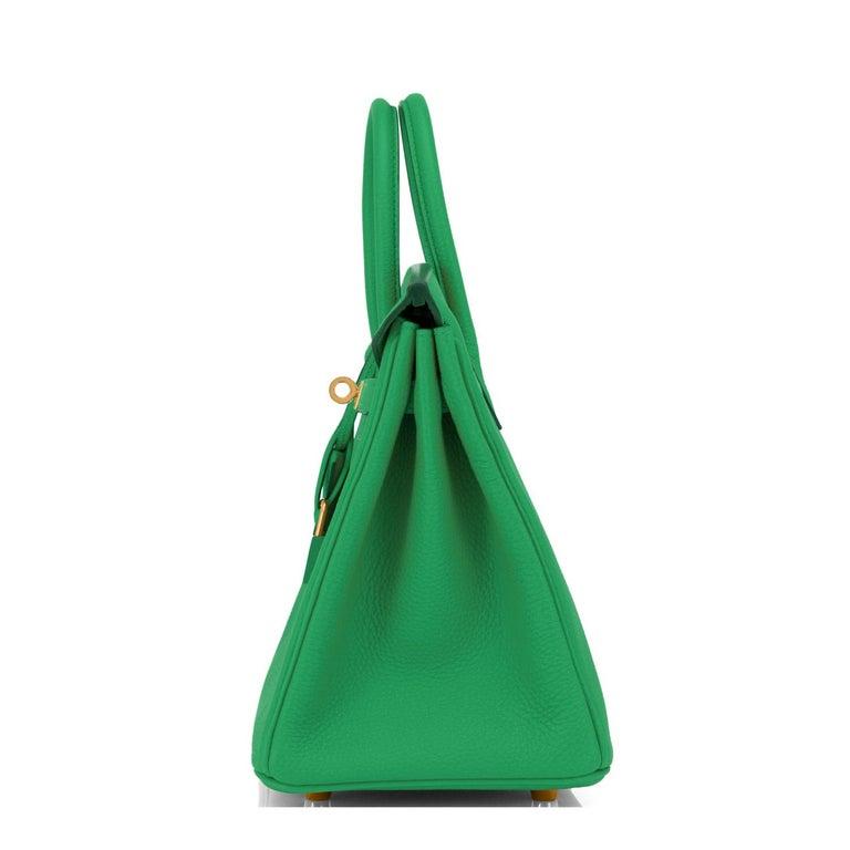 Hermes Birkin 25cm Bambou Green Bamboo Gold Hardware Bag Y Stamp, 2020 For Sale 2