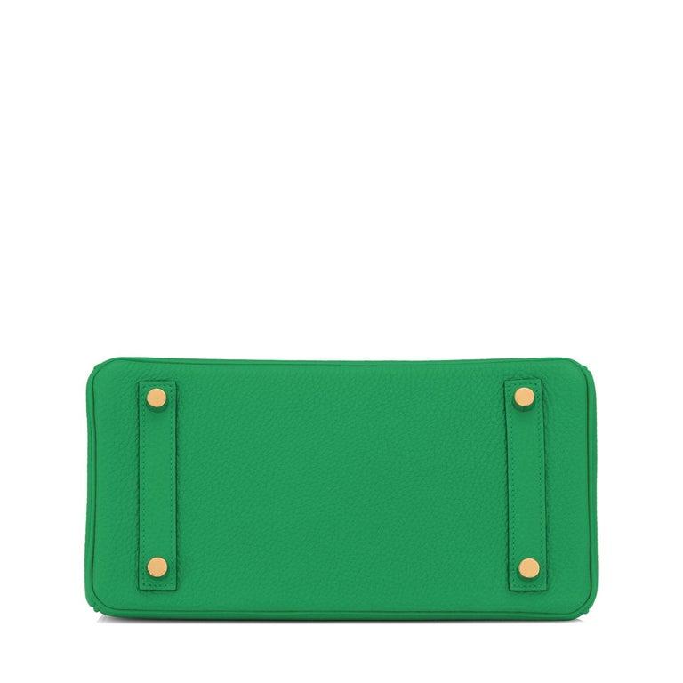 Hermes Birkin 25cm Bambou Green Bamboo Gold Hardware Bag Y Stamp, 2020 For Sale 3