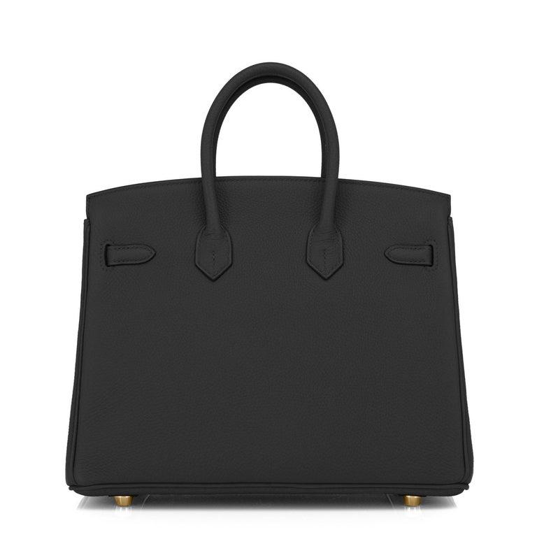 Hermes Birkin 25cm Black Togo Gold Hardware Bag Jewel Y Stamp, 2020 For Sale 1
