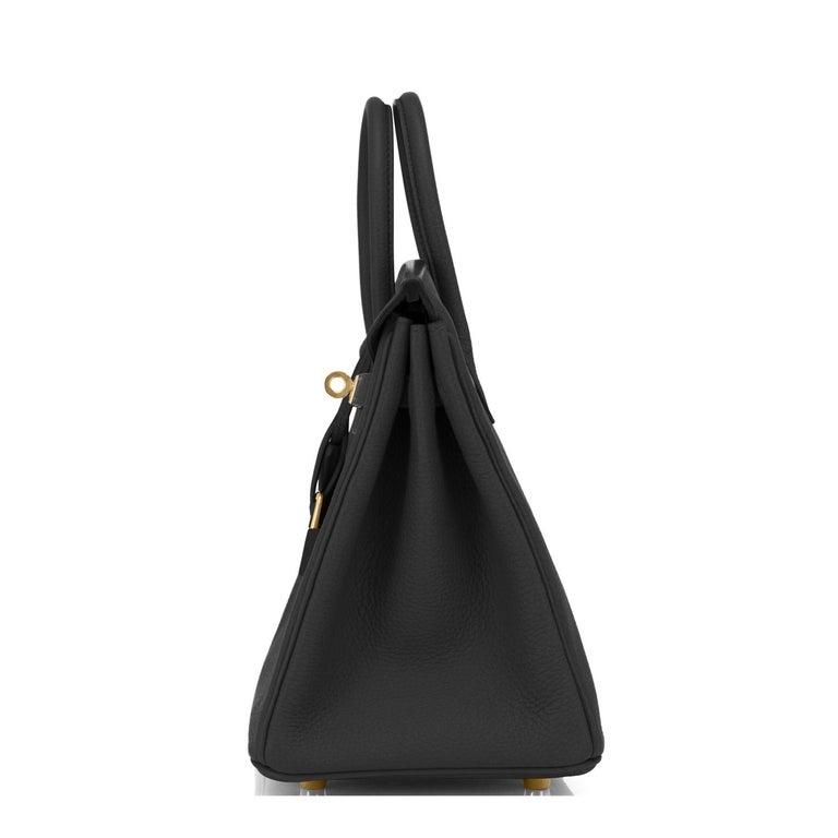Hermes Birkin 25cm Black Togo Gold Hardware Bag Jewel Y Stamp, 2020 For Sale 2