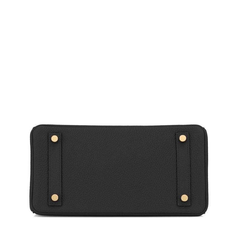 Hermes Birkin 25cm Black Togo Gold Hardware Bag Jewel Y Stamp, 2020 For Sale 3
