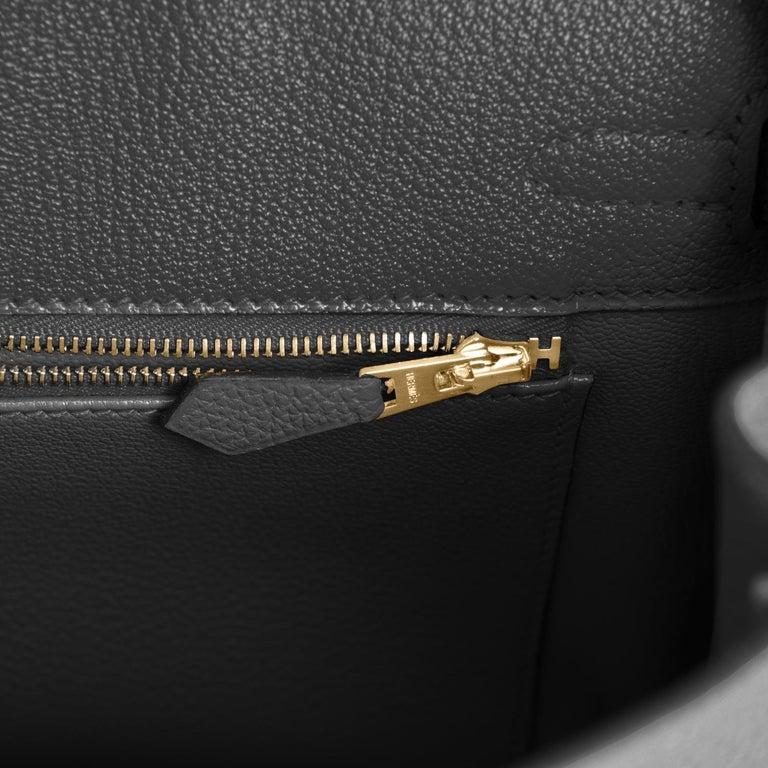 Hermes Birkin 25cm Black Togo Gold Hardware Bag Jewel Y Stamp, 2020 For Sale 5