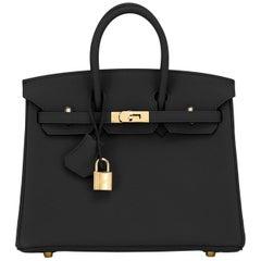 Hermes Birkin 25cm Black Togo Gold Hardware Bag Jewel Y Stamp, 2020