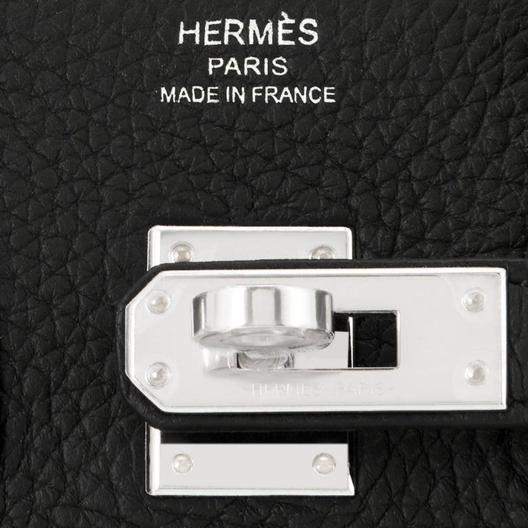 Hermes Birkin 25cm Black Togo Palladium Bag NEW For Sale 6
