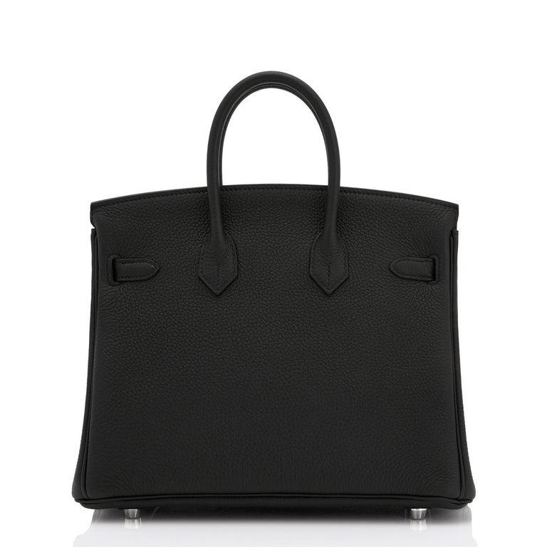 Hermes Birkin 25cm Black Togo Palladium Bag NEW For Sale 1