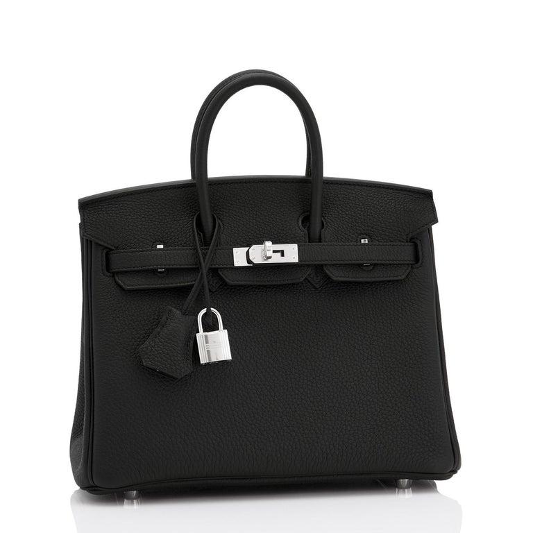 Hermes Birkin 25cm Black Togo Palladium Bag NEW For Sale 2