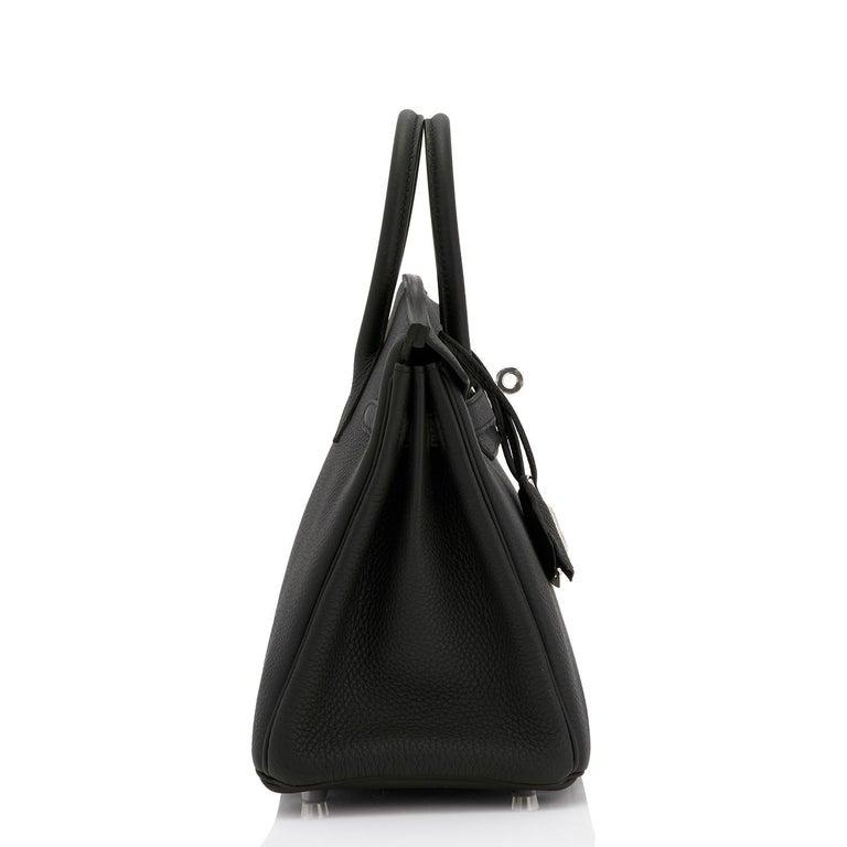 Hermes Birkin 25cm Black Togo Palladium Bag NEW For Sale 3