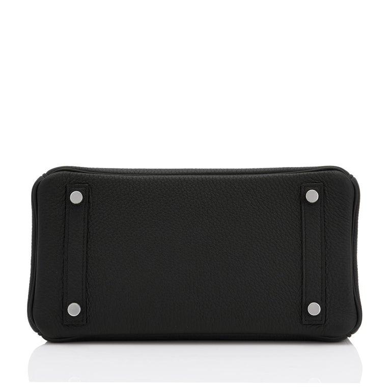 Hermes Birkin 25cm Black Togo Palladium Bag NEW For Sale 5