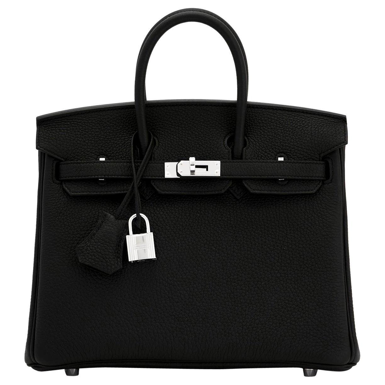Hermes Birkin 25cm Black Togo Palladium Bag Y Stamp, 2020