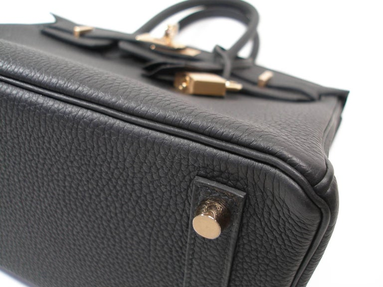 Hermes Birkin 25cm Black Togo Permabrass Hardware Year 2019 / BRAND NEW For Sale 6