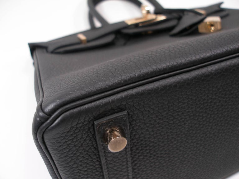 Hermes Birkin 25cm Black Togo Permabrass Hardware Year 2019 / BRAND NEW For Sale 7