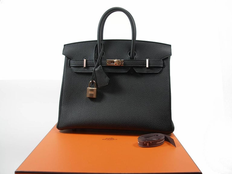 Hermes Birkin 25cm Black Togo Permabrass Hardware Year 2019 / BRAND NEW For Sale 13