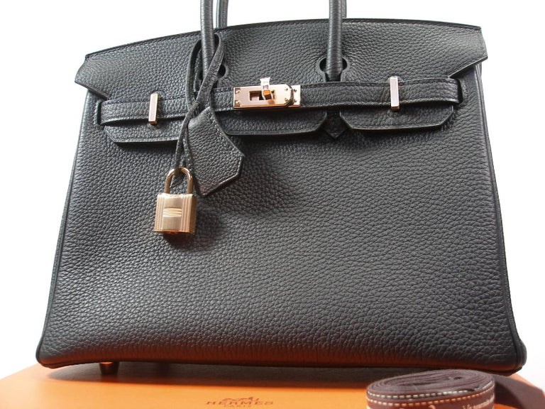 Hermes Birkin 25cm Black Togo Permabrass Hardware Year 2019 / BRAND NEW For Sale 15