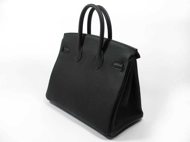 Women's Hermes Birkin 25cm Black Togo Permabrass Hardware Year 2019 / BRAND NEW For Sale