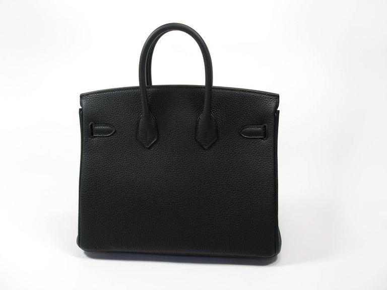 Hermes Birkin 25cm Black Togo Permabrass Hardware Year 2019 / BRAND NEW For Sale 1