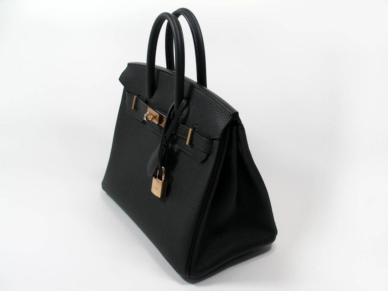 Hermes Birkin 25cm Black Togo Permabrass Hardware Year 2019 / BRAND NEW For Sale 2