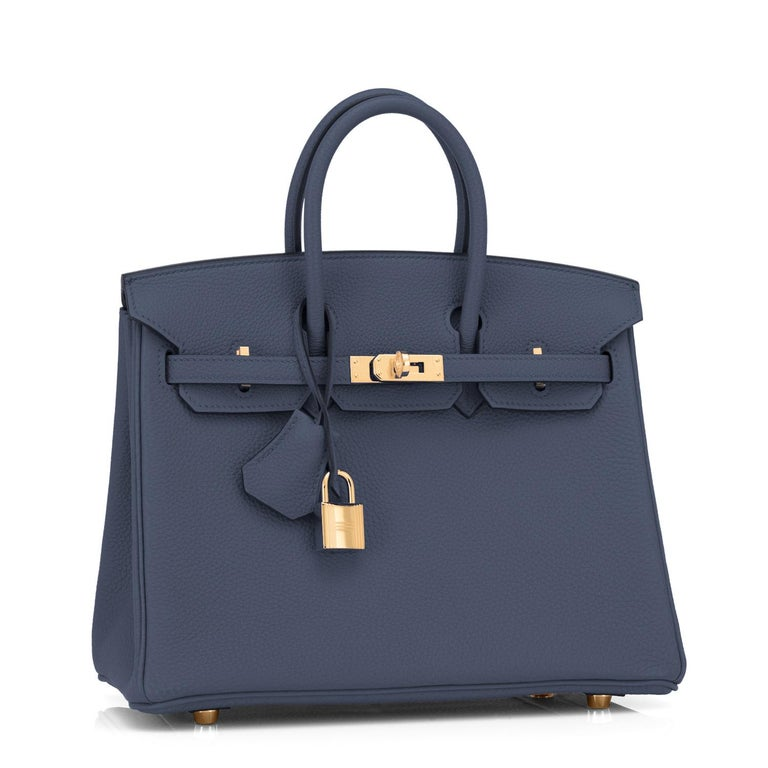 Hermes Navy Blue Nuit Togo 25cm Birkin Gold Hardware Jewel-Toned Y Stamp, 2020 Just purchased from Hermes store! Bag bears new interior 2020 Y Stamp. Brand New in Box. Store fresh. Pristine Condition (with plastic on hardware) Perfect gift!  Comes