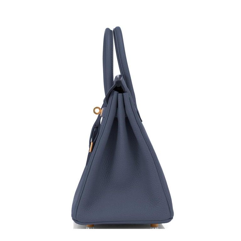 Hermes Birkin 25cm Blue Nuit Jewel-Toned Navy Gold Hardware Bag Y Stamp, 2020 For Sale 1