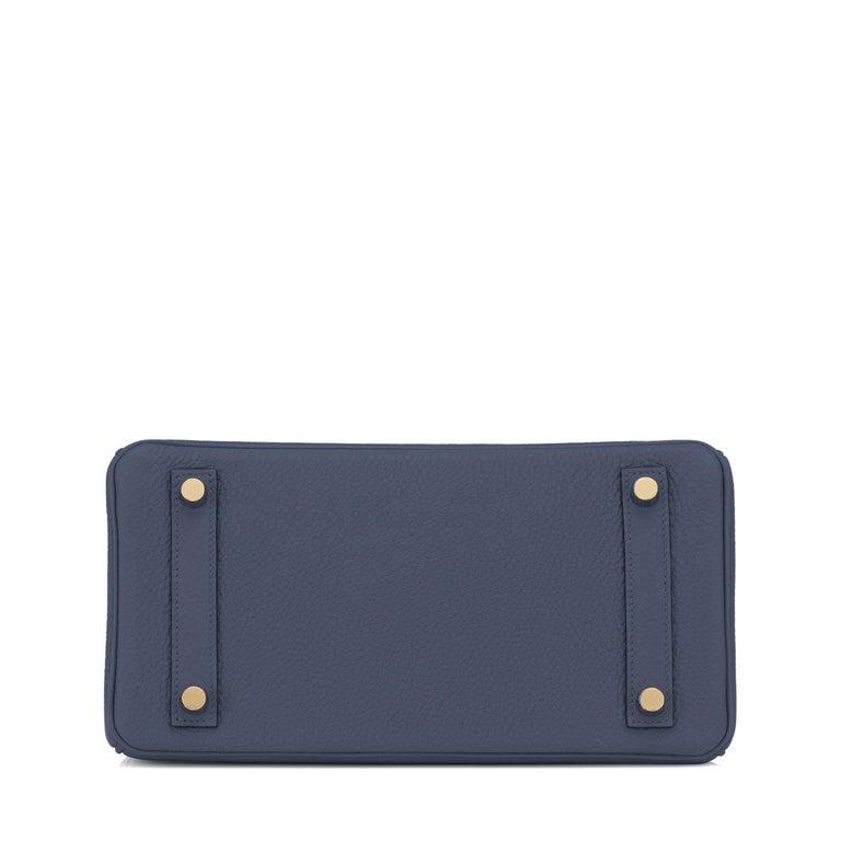Hermes Birkin 25cm Blue Nuit Jewel-Toned Navy Gold Hardware Bag Y Stamp, 2020 For Sale 2