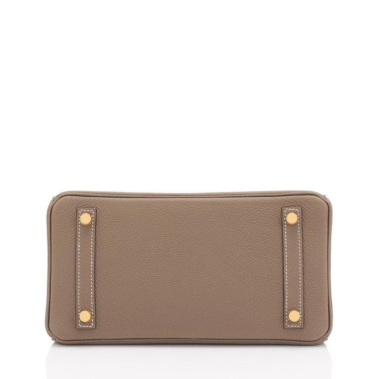 Hermes Birkin 25cm Etoupe Taupe Togo Gold Hardware Bag Y Stamp, 2020 For Sale 5