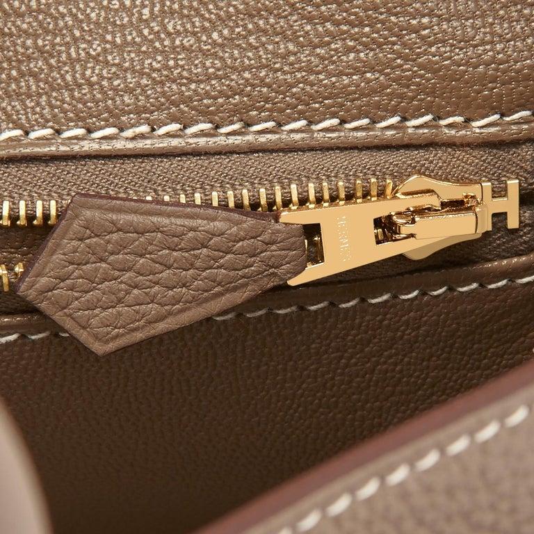 Hermes Birkin 25cm Etoupe Taupe Togo Gold Hardware Bag Y Stamp, 2020 For Sale 6