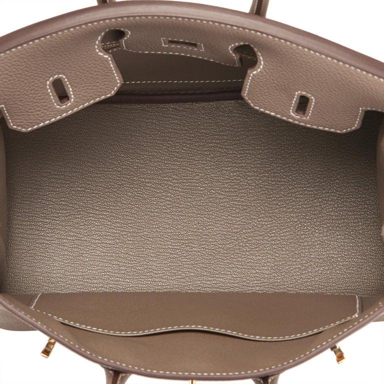 Hermes Birkin 25cm Etoupe Taupe Togo Gold Hardware Bag Y Stamp, 2020 For Sale 4