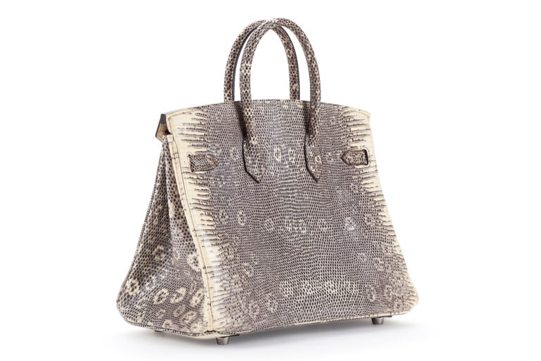 Hermes Birkin 25cm Ombré Lizard with Palladium hardware In New Condition For Sale In Sheridan, WY
