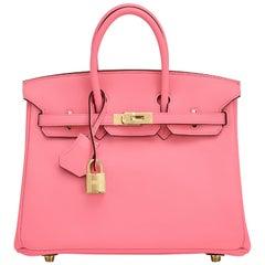 Hermes Birkin 25cm Rose Azalee Gold Hardware Azalea Pink Bag Grail
