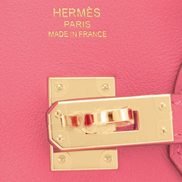 Hermes Birkin 25cm Rose Azalee Gold Hardware Azalea Pink Bag Grail NEW For Sale 6