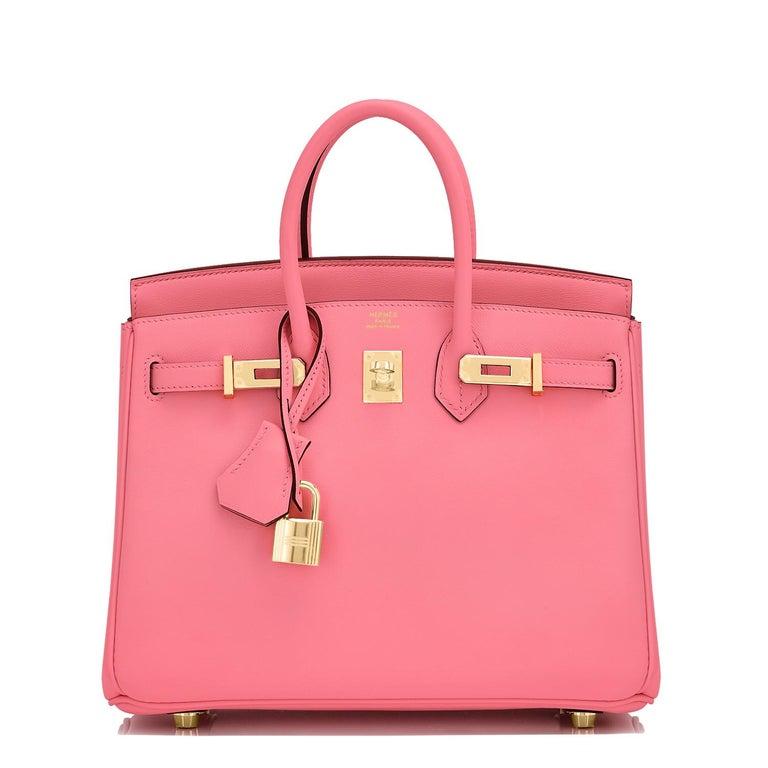 Hermes Birkin 25cm Rose Azalee Gold Hardware Azalea Pink Bag Grail NEW In New Condition For Sale In New York, NY