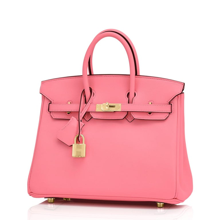 Women's Hermes Birkin 25cm Rose Azalee Gold Hardware Azalea Pink Bag Grail NEW For Sale