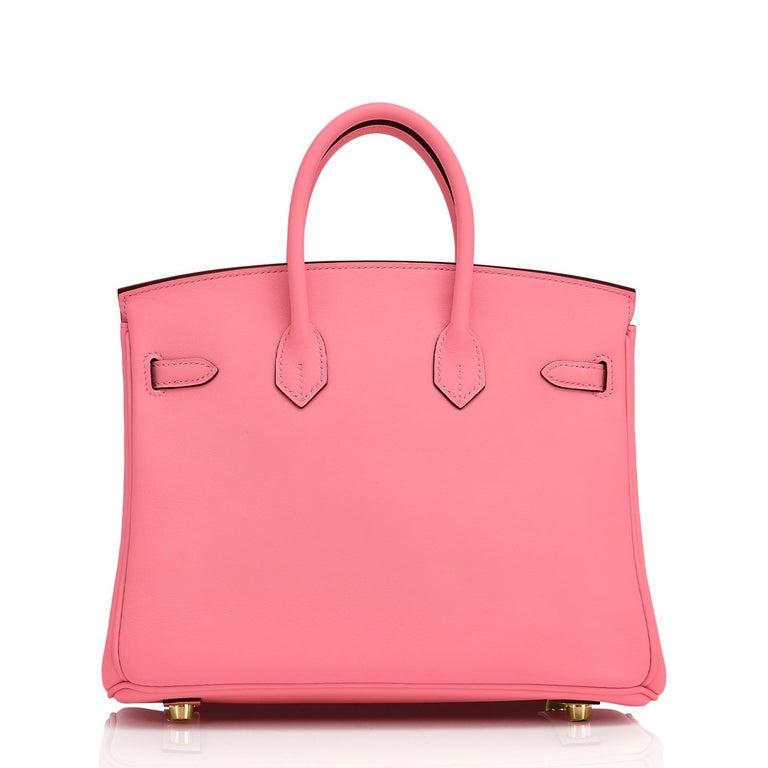 Hermes Birkin 25cm Rose Azalee Gold Hardware Azalea Pink Bag Grail NEW For Sale 1