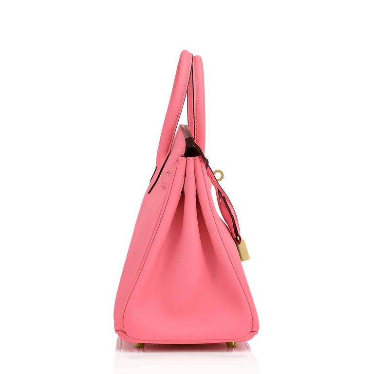 Hermes Birkin 25cm Rose Azalee Gold Hardware Azalea Pink Bag Grail NEW For Sale 2
