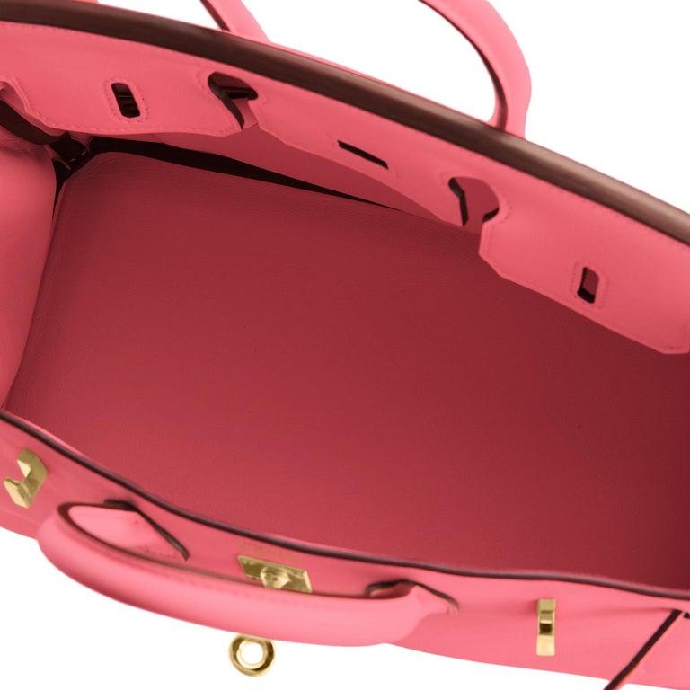 Hermes Birkin 25cm Rose Azalee Gold Hardware Azalea Pink Bag Grail NEW For Sale 4
