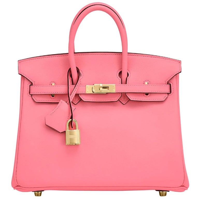 Hermes Birkin 25cm Rose Azalee Gold Hardware Azalea Pink Bag Grail NEW For Sale